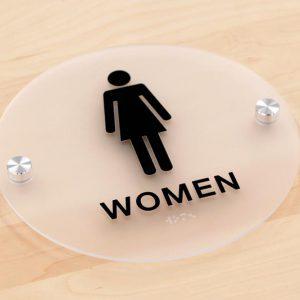 Biển phòng vệ sinh hình tròn