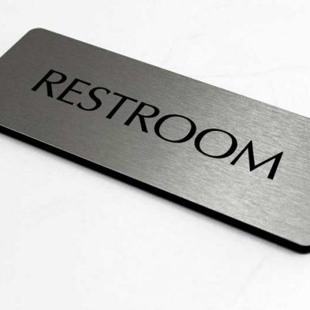 Biển phòng vệ sinh và phòng tắm Mặt Inox