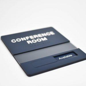 Biển phòng hội nghị, phòng họp với thanh trượt nội dung
