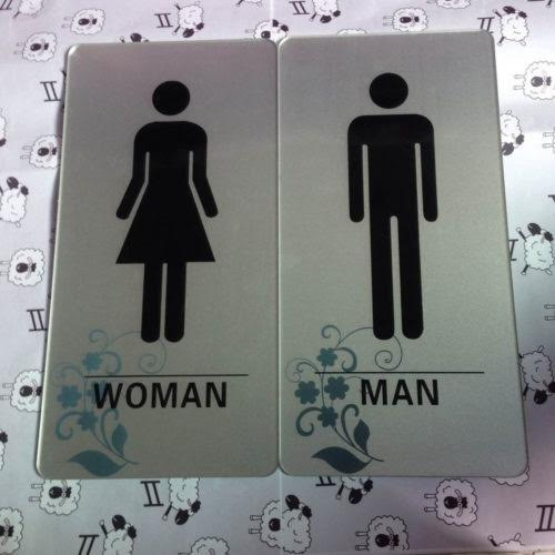Mẫu biển phòng vệ sinh nam nữ, biển WC, Toilet signs 2017