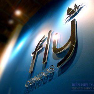 Logo công ty 3D mặt gương