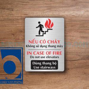Biển hướng dẫn, cảnh báo hỏa hoạn trong văn phòng