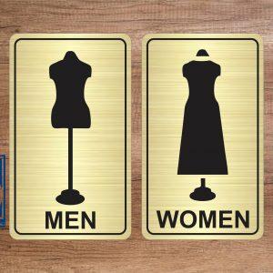 Biển nhà vệ sinh dành cho cửa hàng thời trang