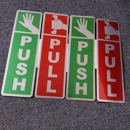 Biển Push & Pull gắn cửa