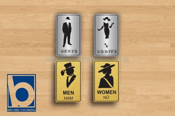 Biển vệ sinh quý ông-quý bà, Toilets ladies - gents, wc lady & gent