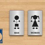 Biển vệ sinh dành cho trẻ em, baby toilet signs, girls boys toilet signs