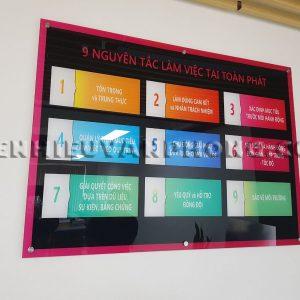 bảng các nguyên tắc làm việc