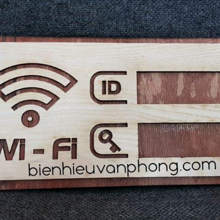Bảng pass wifi gỗ