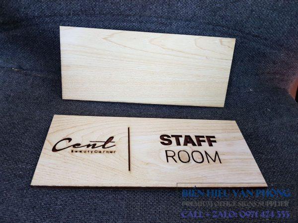 Bảng tên phòng gỗ cắt laser, bảng gỗ tên phòng ban