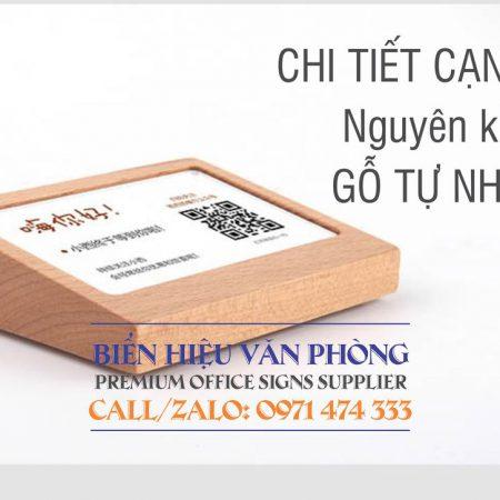 Bảng menu gỗ, bảng thanh toán quét mã QR bằng gỗ, bảng thông tin để bàn gỗ