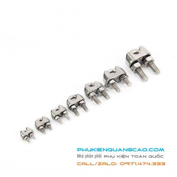 Đầu khóa dây cáp inox 304 dùng cho bản cáp từ 3mm – 30 mm