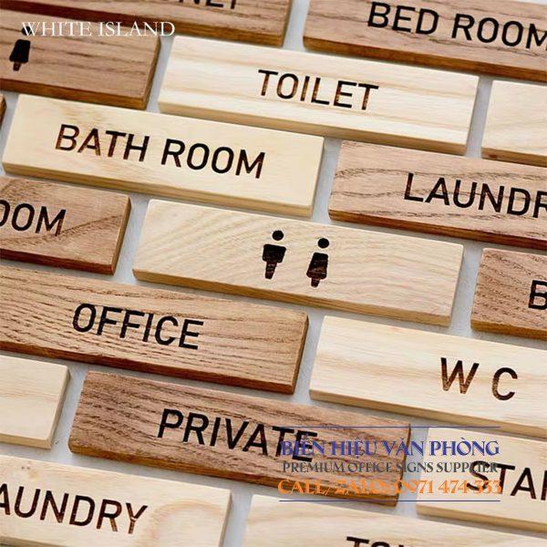Bảng Gỗ Toilet - WC Nam Nữ - Resroom bằng gỗ tự nhiên