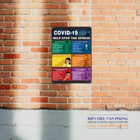 Bảng hướng dẫn COVID 19, Giúp ngăn chặn sự lây lan, Bảng chú ý phòng ngừa covid